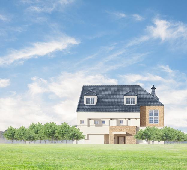 De qué color pintar una casa en zona urbana o rural
